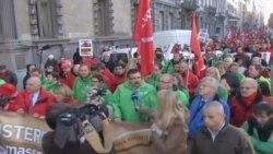 Avrupalı İşçiler Sokaklara Döküldü
