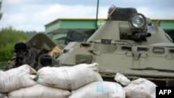 Блок-пост українських Збройних сил поблизу Слов'янська