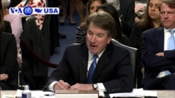 VOA60 America - Confirmation hearings for Supreme Court Justice nominee Brett Kavanagh continue for a third day