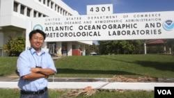 Dr. Natchanon Amornthammarong, A Thai scientist at NOAA, Miami, Florida.