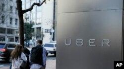Kantor pusat Uber di San Francisco.