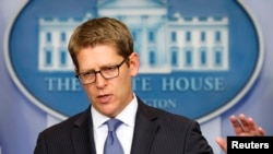 FILE - White House Spokesman Jay Carney