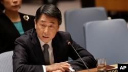 유엔 안보리가 새 대북제재 결의안을 통과시킨 지난 2일 오준 유엔주재 한국대사가 안보리 회의에서 발언하고 있다. (자료사진)