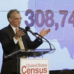 Census Bureau Director Robert Groves announces the official count of the nation's population.