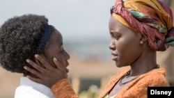Madina Nalwanga (left) and Lupita Nyong'o in the new film 'Queen of Katwe.'