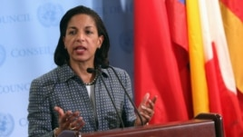 U.S. ambassador to the United Nations Susan Rice speaks (2012 file photo)