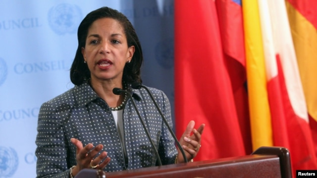 U.S. ambassador to the United Nations Susan Rice  at U.N. headquarters in New York June 7, 2012.