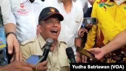 Ketua BPN Prabowo-Sandi, Djoko Santoso, usai meresmikan posko BPN di Solo, Jumat, 11 Januari 2019. (Foto: Yudha Satriawan/VOA)