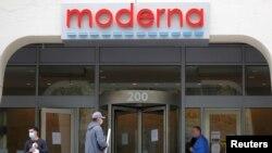 Trụ sở của hãng dược Moderna ở Cambrige, bang Massachusetts