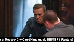Aleksej Navalni tokom saslušanja