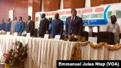 Ouverture à Yaoundé des travaux de la 7ème session du comité de sécurité transfrontalière Cameroun-Nigeria, le 10 juillet 2019. (VOA/Emmanuel Jules Ntap)