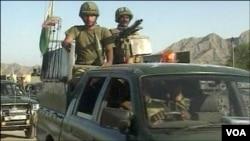 قبائلی علاقے وزیرستان میں پاکستانی فوج