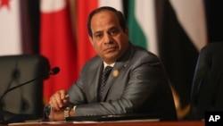 Le président égyptien Abdel Fattah al-Sissi à Sharm el-Sheikh, 29 mars 2015.