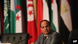 Rais wa Misri Abdel Fattah al-Sissi huko Sharm el-Sheikh, South Sinai, Machi 29, 2015.