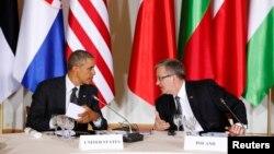 Барак Обама и Бронислав Коморовский