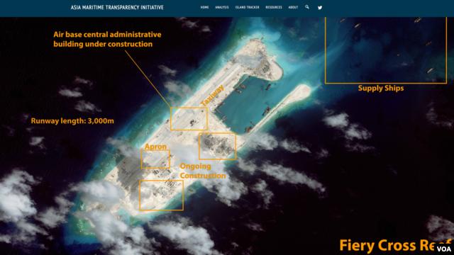 Ảnh do CSIS phân tích cho thấy những công trình xây dựng của Trung Quốc ở Biển Đông.