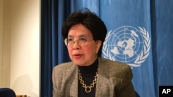 FILE - The Director-general of the World Health Organization (WHO) Margaret Chan.