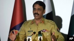 FILE - Pakistan army spokesman Maj. Gen. Asif Ghafoor