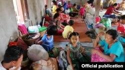 စစ္ေရွာင္ျပည္သူမ်ား (ဓါတ္ပံု- Rakhine Ethnics Congress )