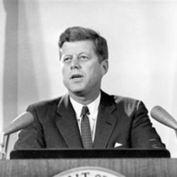 President Kennedy reports to the nation on the Cuban missile crisis