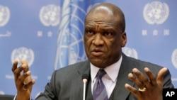 前联合国大会主席约翰.阿什(资料照,2013年9月17日)