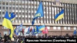 У Запоріжжі на Євромайдан вийшли кілька тисяч. ФОТО
