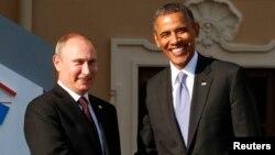 Tổng Thống Barack Obama và Tổng Thống Nga Vladimir Putin gặp nhau tại St. Petersburg.
