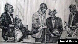 کاریکاتوری از آتنا فرقدانی