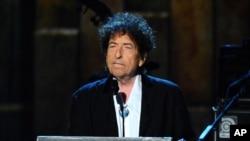 Le prix Nobel Bob Dylan lors d'un événement à Los Angeles, le 6 février 2015.