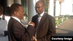 New Justicve Minister Emmerson Mnangagwa and Information Minister Jonathan Moyo