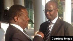 Vice President Emmerson Mnangagwa and Information Minister Jonathan Moyo.