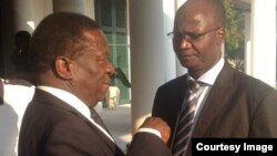 Justice Minister Emmerson Mnangagwa and Information Minister Jonathan Moyo.