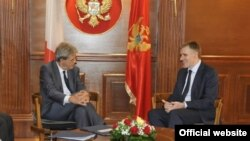 Italijanski šef diplomatije Paolo Đentiloni i potpredsjednik Vlade Crne Gore Igor Lukšić (gov.me)