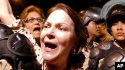 Mulher de Antonio Ledezma grita pela sua libertação