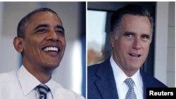 Hai ứng cử viên tổng thống Mỹ Barack Obama và Mitt Romney