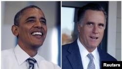 现任总统奥巴马和共和党候选人前马萨诸塞州州长罗姆尼