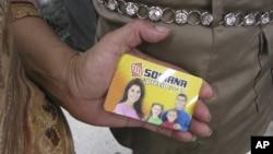 Thẻ quà tặng trả trước mà nhiều người nói rằng do đảng của ông Pena Nieto cho họ để mua phiếu
