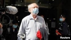 美國律師關尚義被香港警察從辦公室帶走。(2021年1月6日)