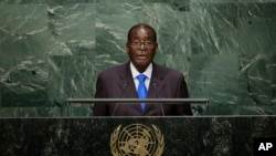 Mugabe Addressing United Nations General Assembly