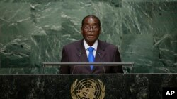 President Mugabe at UN General Assembly.