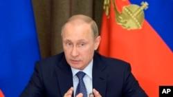 Prezidan ris la, Vladimir Putin. Foto: 12 me 2015.