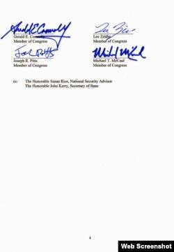美国26议员致函习近平信件第四页