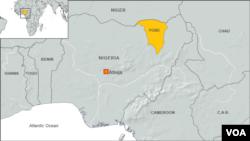 Bản đồ tiểu bang Yobe ở Nigeria