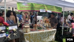 Stand Indonesia diwakili oleh Komunitas Bali dalam festival Chinatown di Washington DC, Sabtu (7/7).