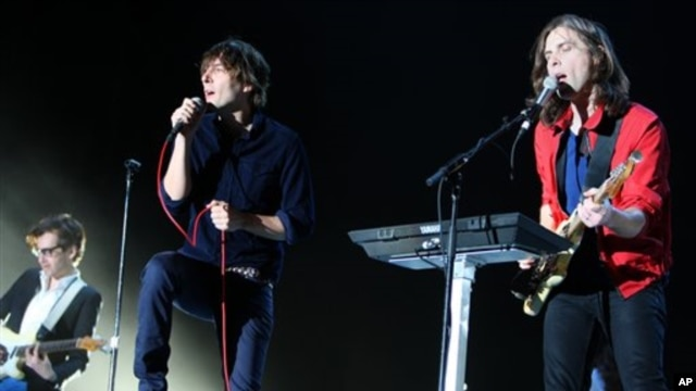 Phoenix performing at this year's Coachella music festival in California