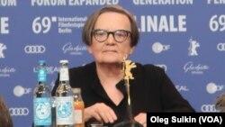 Агнешка Холланд на пресс-конференции