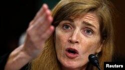 지난 달 17일 미 상원 인준 청문회에 출석한 사만다 파워 유엔 주재 미국대사.