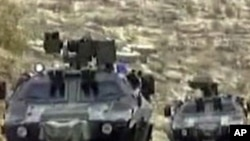 10月19日在土伊边界地区的土耳其军队坦克