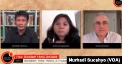 Diskusi daring 1965 Sejarah yang dikubur oleh Historia. (Foto: VOA/Nurhadi Sucahyo)