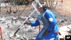 Operação de desminagem em Moçambique